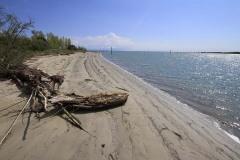 La spiaggia nell'area di Casa Spina